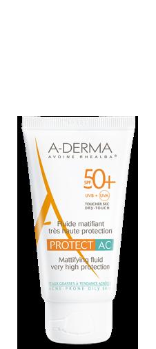A-Derma Protect AC Fluido Opacizzante SPF 50+ Protezione Molto Alta 40 ml - La tua farmacia online