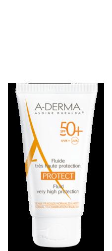 A-Derma Protect Fluido SPF 50+ Protezione Solare Viso Molto Alta 40ml - La tua farmacia online