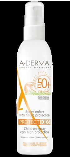 A-Derma Protect Kids Spray SPF 50+ Protezione Solare Bambino Molto Alta 200 ml - La tua farmacia online