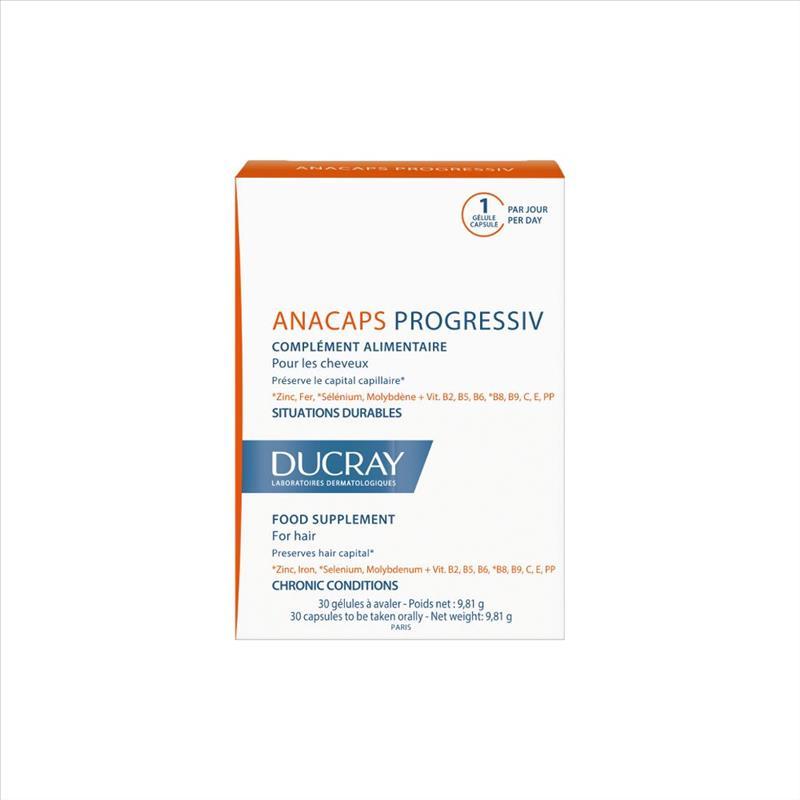 Ducray Anacaps Progressiv Integratore Anticaduta Fortificante 30 Capsule - La tua farmacia online
