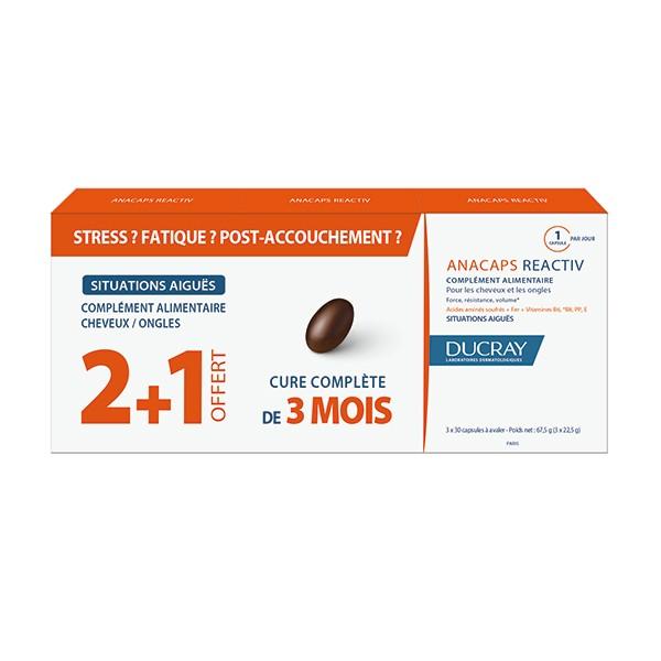 Ducray Anacaps Reactiv Integratore Anticaduta 3 confezioni da 30 capsule - La tua farmacia online