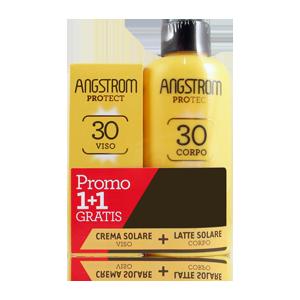 ANGSTROM BIPACCO Latte Solare Corpo SPF 30+ e Crema Solare Viso SPF 30+ - Farmamille