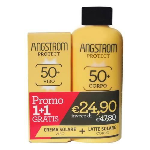 ANGSTROM BIPACCO Latte Solare Corpo SPF 50+ e Crema Solare Viso SPF 50 - Farmamille