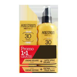 ANGSTROM BIPACCO Spray Solare Corpo SPF 30+ e Crema Solare Viso SPF 30+ - Farmamille