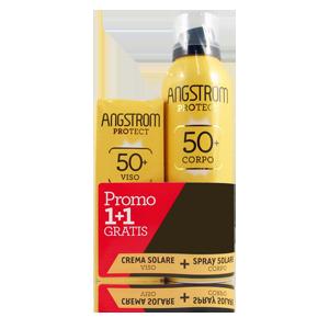 ANGSTROM BIPACCO Spray Solare Corpo SPF 50+ e Crema Solare Viso SPF 50+ - Farmamille