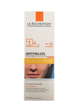 La Roche Posay Anthelios Pigmentation Crema Colorata 50+ Macchie Cute 50 ml  - Farmastar.it