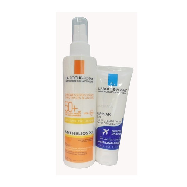 LA ROCHE POSAY SOLE ANTHELIOS LATTE SPRAY SPF50+ 200 ML + LIPIKAR LATTE 75ML GRATIS - Farmastar.it