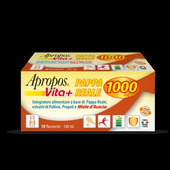 APROPOS VITA+ PAPPA REALE 1000MG 10 FLACONCINI DA 10 ML - Farmalandia