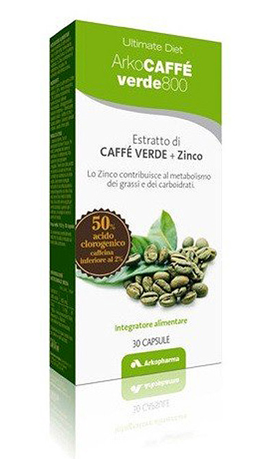 Arkopharma ArkoCaffè Verde 800 Integratore Alimentare Metabolismo 30 Capsule - La tua farmacia online