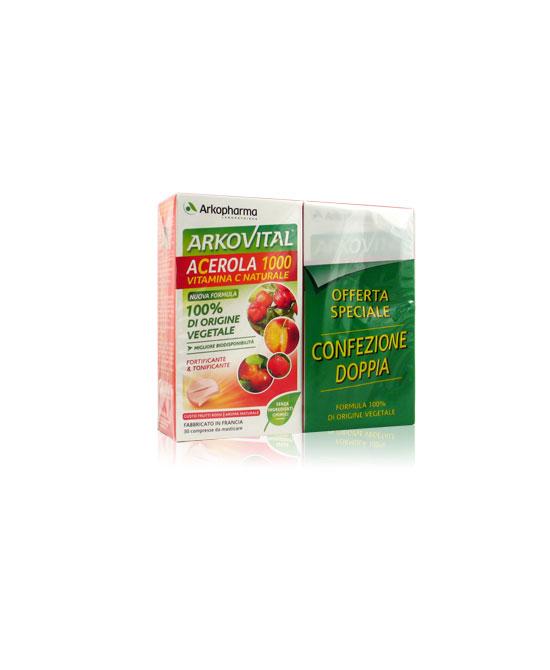 Arkofarma Acerola 1000 Vitamina C Confezione Convenienza 60cpr masticabili - La tua farmacia online