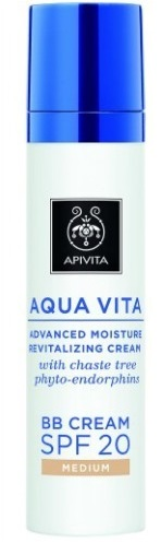 APIVITA AQUA VITA BB SPF20 CREAM MEDIUM 40 ML - Zfarmacia