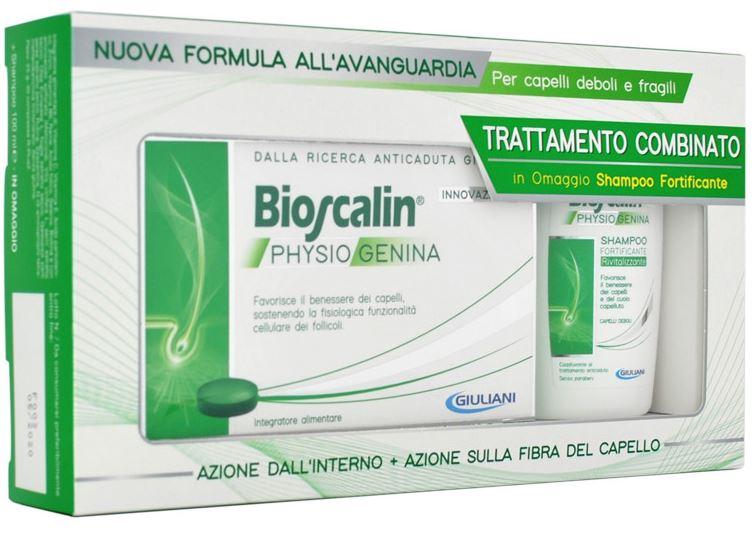 Bioscalin Physiogenina 10 Fiale Anticaduta + Shampoo Fortificante 200 ml Omaggio - Zfarmacia