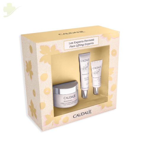CAUDALIE COFANETTO NATALE RESVERATROL LIFT LES EXPERTS FERMETE CREMA 50ML+ SIERO 10ML + BALSAMO 5ML - Farmastar.it