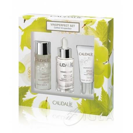 CAUDALIE COFANETTO VINOPERFECT ESSENZA 50 ML + SIERO 30 ML + CREMA 15 ML - Farmacento