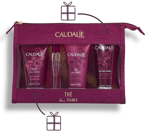 "Caudalie Trousse Regalo di Natale ""Trousse Profumata Thé des Vignes"" Idea Regalo - Farmastar.it"