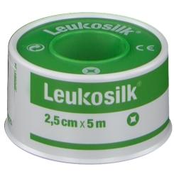 CEROTTO IN ROCCHETTO LEUKOSILK IPOALLERGENICO BIANCO 2,5X500 CM - Farmacento