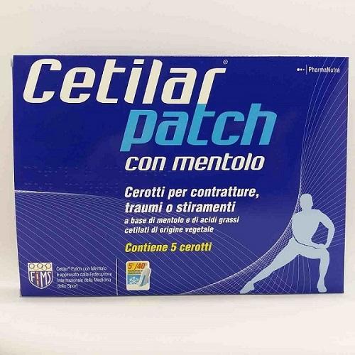 CEROTTO MONOUSO CETILAR PATCH CON MENTOLO 5 PEZZI - Farmaciaempatica.it
