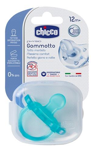 Chicco Gommotto Physio in Silicone Azzurro 12+ Mesi - Farmalilla