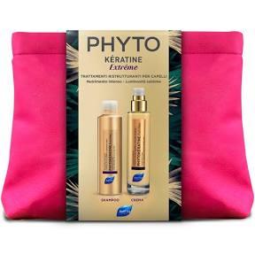 PHYTO COFANETTO PHYTOKERATINE EXTREME  SHAMPOO  200ML+CREMA 100ML+ TROUSSE  - Farmastar.it