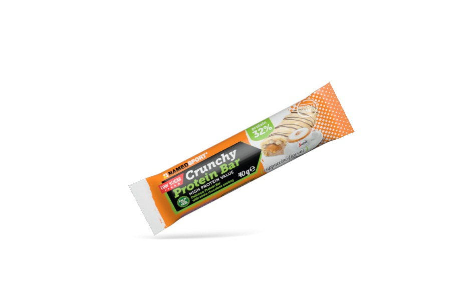 NAMED SPORT CRUNCHY PROTEINBAR CAPPUCCINO 40 G - Farmastar.it