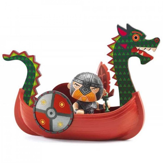 Djeco Drack & Ze Drakkar - Pirati Arty Toys - Farmalilla