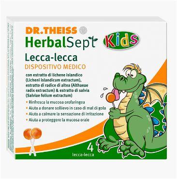 Dr Theiss HerbalSept Lecca Lecca Lollipops Per Bambini 4 Pezzi - Farmacia 33