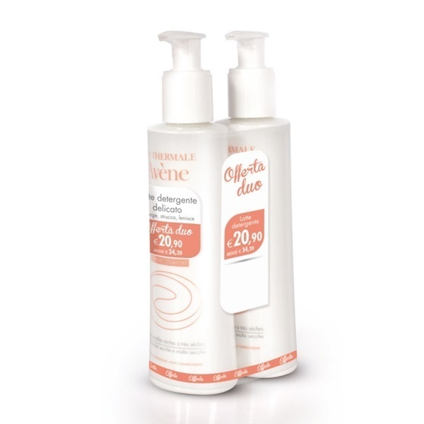 AVENE TRATTAMENTO VISO LATTE DETERGENTE DELICATO DUO 2X200 ML - Farmastar.it