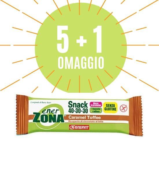 ENERZONA SNACK CARAMEL TOFFEE 5 BARRETTA 1 OMAGGIO - Farmacia 33