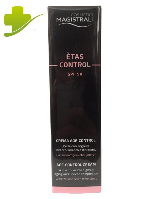 COSMETICI MAGISTRALI ETAS CONTROL SPF 50 CREMA SOLARE VISO ANTIRUGHE 50 ML - Farmastar.it
