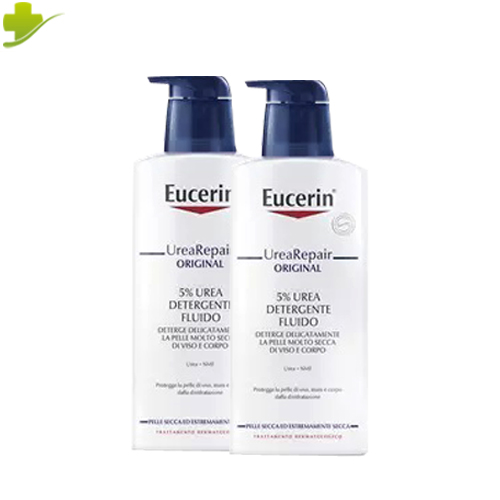 EUCERIN UREA REPAIR ORIGINAL 5% FLUIDO DETERGENTE VISO E CORPO 2 X 400 ML PROMO - Farmastar.it