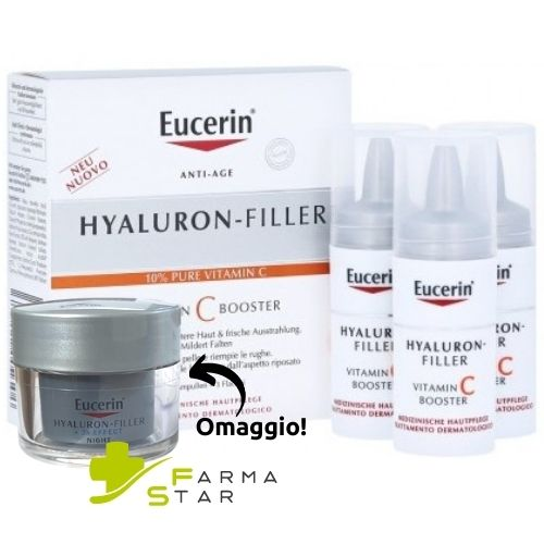 EUCERIN HYALURONIC FILLER VITAMINA C BOOSTER 3 X 8 ML - Farmastar.it