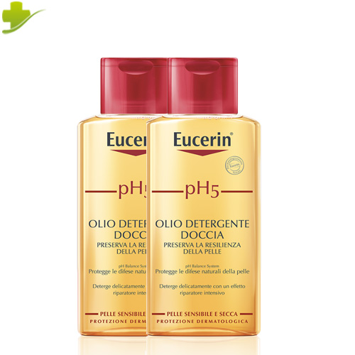 EUCERIN PH5 OLIO DETERGENTE DOCCIA 2 X 200 ML PROMO - Farmastar.it