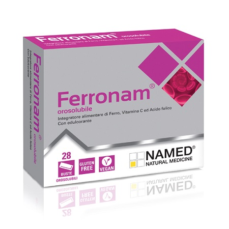 NAMED FERRONAM OROSOLUBILE INTEGRATORE ALIMENTARE 28 BUSTINE OROSOLUBILI - Farmastar.it