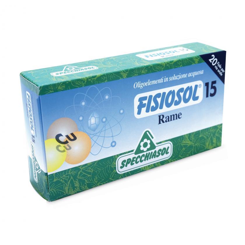 Specchiasol Fisiosol 15 Rame 20 Fiale da 2 ml - La tua farmacia online