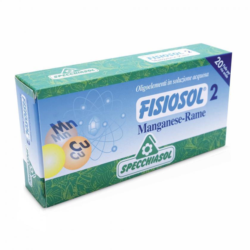Specchiasol Fisiosol 2 Oligoelementi in Soluzione Acquosa Manganese Rame 20 Fiale - La tua farmacia online