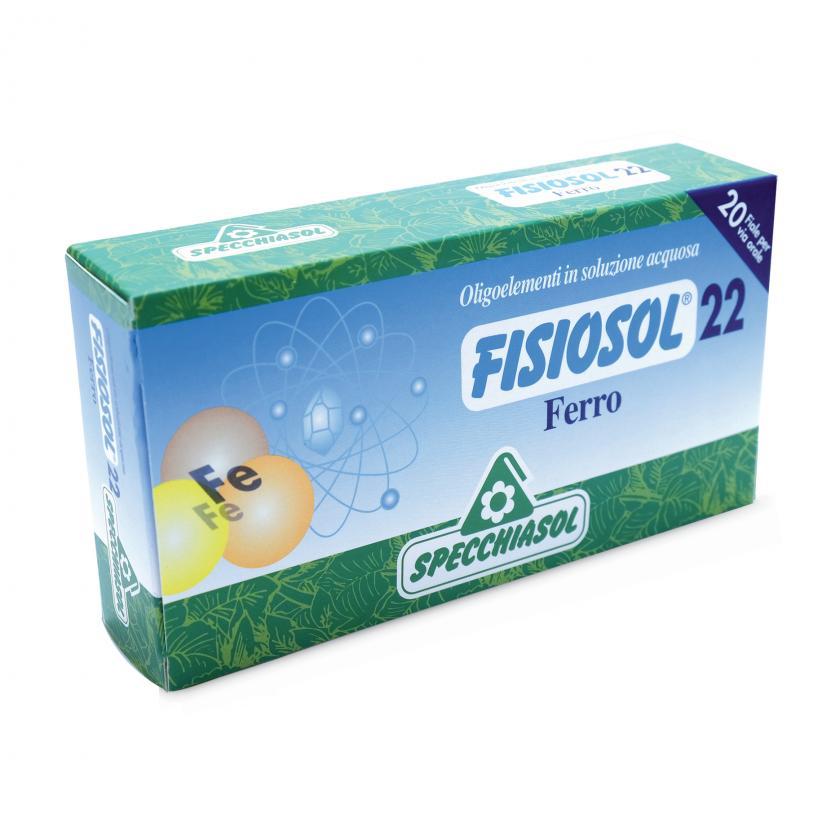 Specchiasol Fisiosol 22 Oligoelementi in Soluzione Acquosa Ferro 20 Fiale - La tua farmacia online