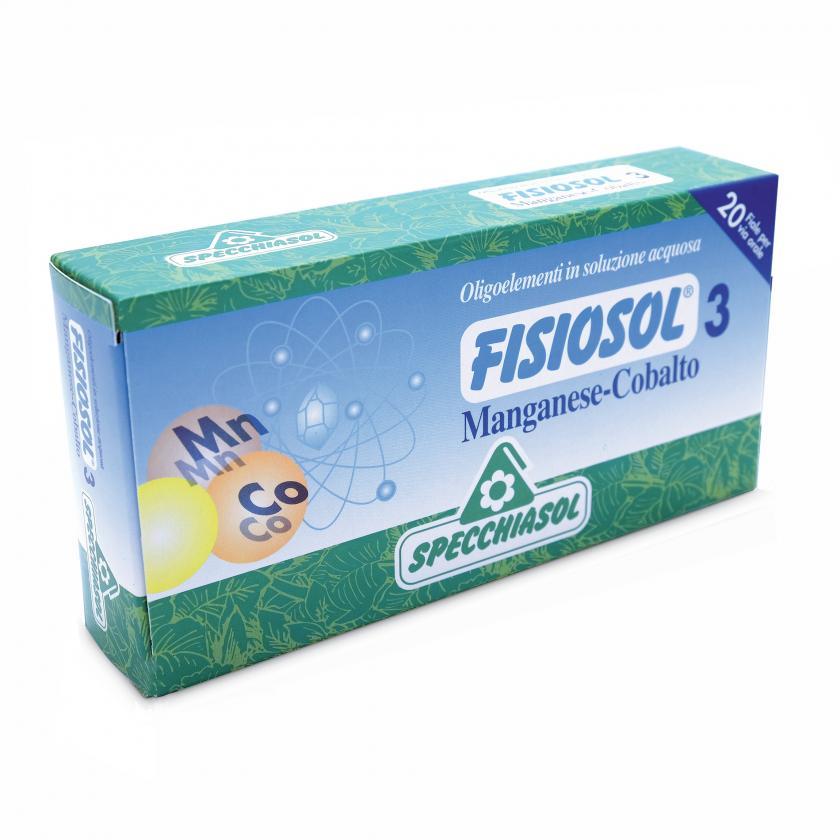 Specchiasol Fisiosol 3 Oligoelementi in Soluzione Acquosa Mn Co 20 Fiale - La tua farmacia online