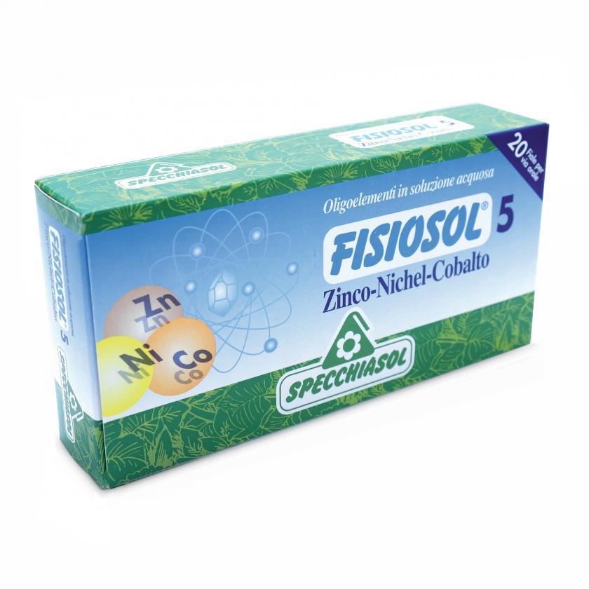 Specchiasol Fisiosol 5 Zinco Nichel Cobalto 20 Fiale da 2ml - La tua farmacia online