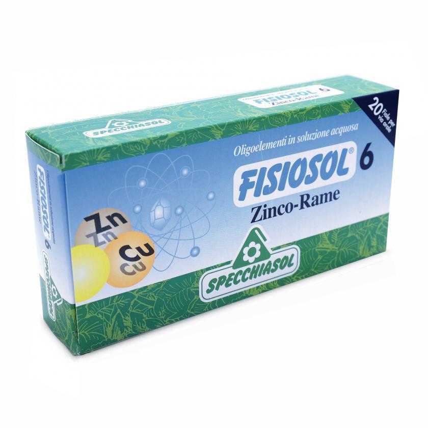 Specchiasol Fisiosol 6 Zinco Rame 20 Fiale - La tua farmacia online