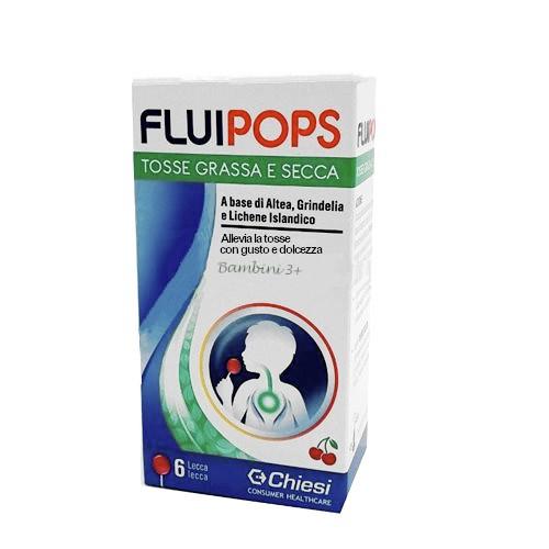 FLUIPOPS 6 LECCA LECCA GUSTO CILIEGIA PER TOSSE - Farmamille