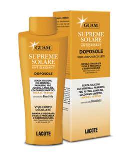 Guam Supreme Solare Doposole Viso-Corpo-Dècolletè Lenitivo e Delicato 150 ml - La tua farmacia online