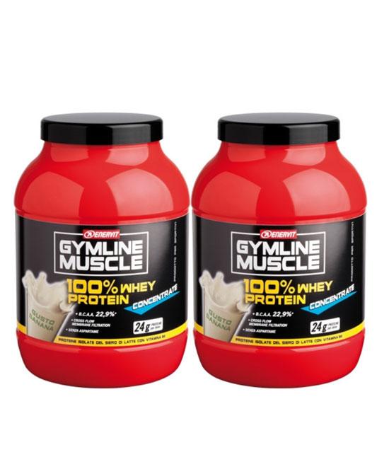 GYMLINE 100% WHEY CONCENTRATE VANIGLIA 2X700 G - La tua farmacia online