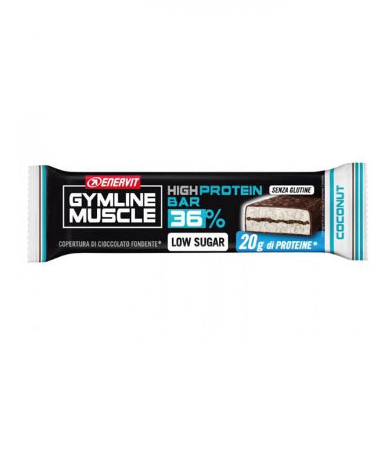 Enervit Gymline Protein Bar 36% Low Sugar Coconut 1 Barretta Gusto Cocco 55g - La tua farmacia online