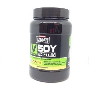 GYMLINE MUSCLE VEGETAL SOY PROTEIN CREMA 800 G - Farmacia 33