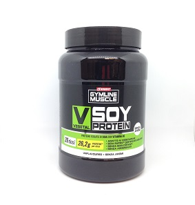 GYMLINE MUSCLE VEGETAL SOY PROTEIN UNFLAVOURED 800 G - Farmacia 33