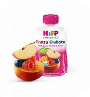 Hipp Frutta Frullata Mela Pesca Fragola Biologico 90g - Farmamille