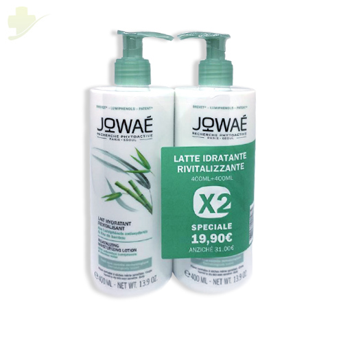 JOWAE DUO LATTE CORPO IDRATANTANTE  RIVITALIZZANTE 400 ML + 400 ML - Farmastar.it