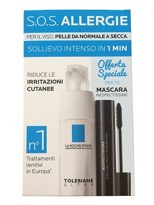 LA ROCHE POSAY SOS ALLERGIE KIT TOLERIANE ULTRA CREMA 40 ML + MASCARA RESPECTISSIME  2 ML - Farmastar.it