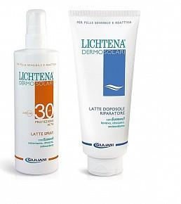 LICHTENA DERMOSOL LATTE SPRAY SPF 30 200 ML + DOPOSOLE 350 ML - La tua farmacia online