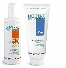 LICHTENA DERMOSOL LATTE SPRAY SPF 50+ 200 ML + DOPOSOLE 350 ML - La tua farmacia online